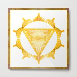 You Are My Sunshine Abstract Chakra Art  Metal Print