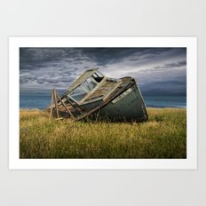 Abandoned and Forlorn The Jamie G. Ship Wreck lies on Prince Edward Island Art Print
