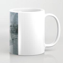 What's behind the old blue door? Coffee Mug