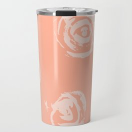 Sweet Life Rosebud Peach Coral Pink Travel Mug