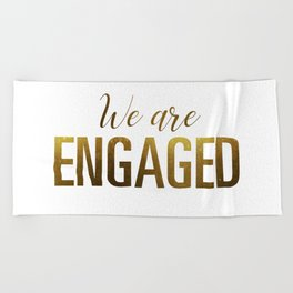 engaged beach towels society6