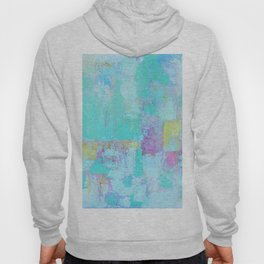 Turquoise, Blue Abstract Work Hoody
