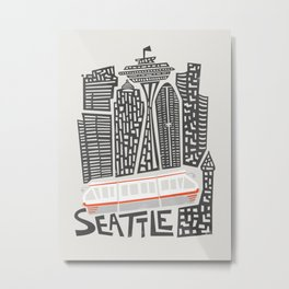 Seattle Cityscape Metal Print