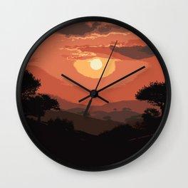 Valley of Sun Wall Clock