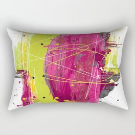 "Abstract ""Fougue"" Rectangular Pillow"