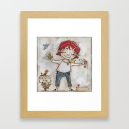 Patient and Still - A place for birds and bird lovers to gather Framed Art Print