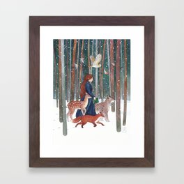 Through the Forest Framed Art Print
