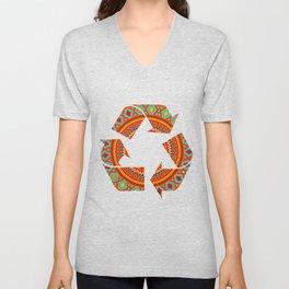 Mandala Aztec Pattern Unisex V-Neck