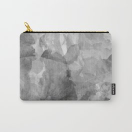 Black and White Foliage Carry-All Pouch