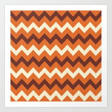 Fall Chevron Art Print