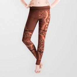 Wood Panel Mandalas Leggings