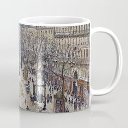 Camille Pissarro - Boulevard Montmartre, Morning, Cloudy Weather Coffee Mug