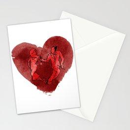 Colgada de Corazon Stationery Cards
