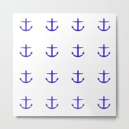 royal anchors on white Metal Print