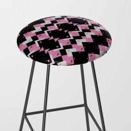 Pink Flamingos Art Deco Pattern Bar Stool