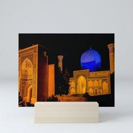 Timur Mausoleum at night Mini Art Print