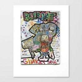 Beershat Canvas Print