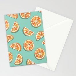 Kitschy Oranges Pattern Stationery Cards
