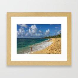 Beach Girl Framed Art Print