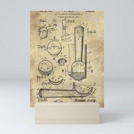 Ice Cream Scoop Blueprint Industrial Farmhouse Mini Art Print