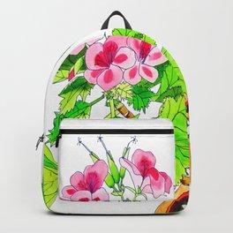 Pink Geraniums Backpack