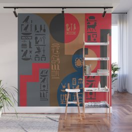 Egyptian Symbols Art Deco Composition #1 Wall Mural