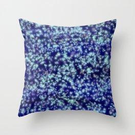 Navy Blue Sapphire Stars Throw Pillow