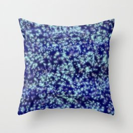 Navy Blue Sapphire Stars Throw Pillow