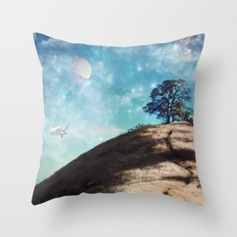 Not On This Earth Throw Pillow
