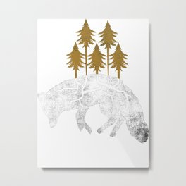 Dying Wolf Metal Print