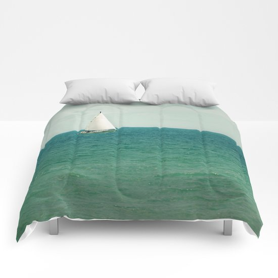 Minty Sail Comforters