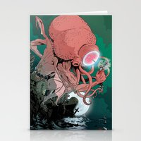 cthulhu Stationery Cards featuring cthulhu by Nahum Ziersch