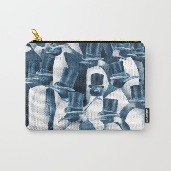 A Gathering of Gentlemen (square format) Carry-All Pouch