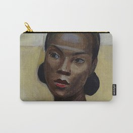 African American Masterpiece 'Portrait of a Black Woman' by Sergey Sudeikin  Carry-All Pouch