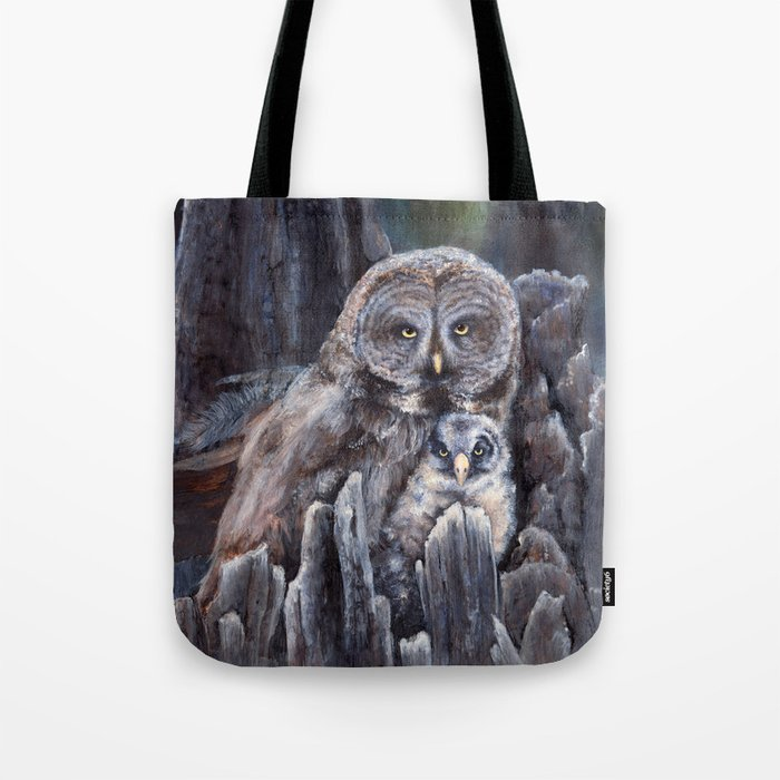 Wood  -  Owls Tote Bag