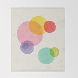 Rainbow Bubbles Throw Blanket