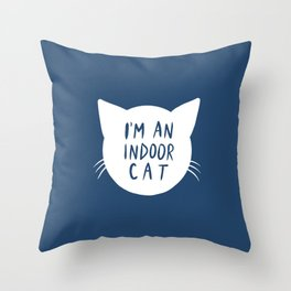 Indoor Cat (silhouette) Throw Pillow