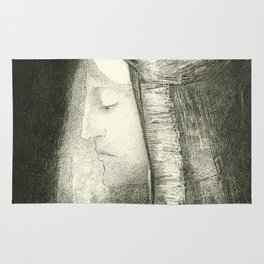 """Odilon Redon """"Profile of Light (Profil de lumière)"""" Rug"""