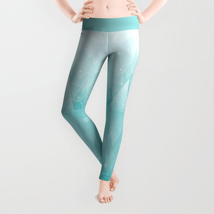 Geometric Lake Mountain IV - Winter Leggings