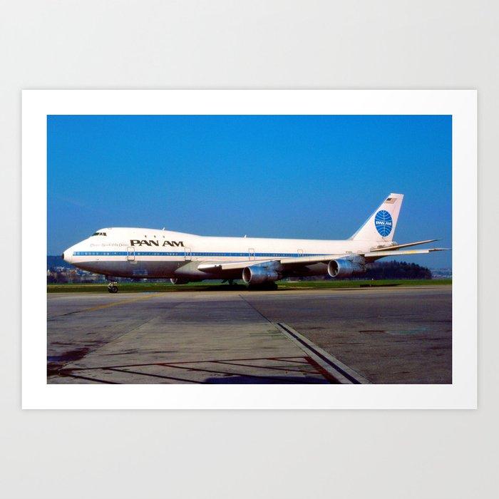 PanAm 747 Clipper Art Print
