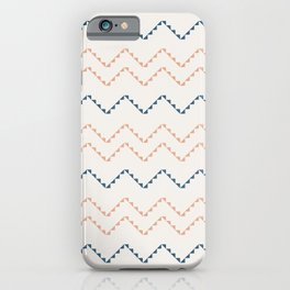 Modern boho simple zig zag #689 iPhone Case