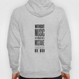 Lab No. 4 - Friedrich Nietzsche Quote life music typography poster Hoody
