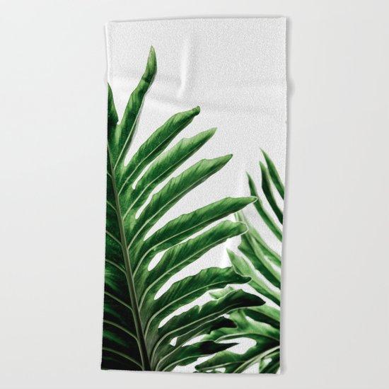 Leaves 1 Beach Towel