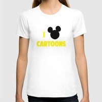 cartoons T-shirts featuring I heart Cartoons by ihearteverything