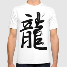 Ryu – Dragon SMALL White Mens Fitted Tee