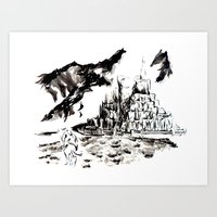gondor Art Prints featuring Return of the King - Gondor, Gandalf by Knapp Ink