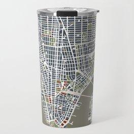 New York city map engraving Travel Mug