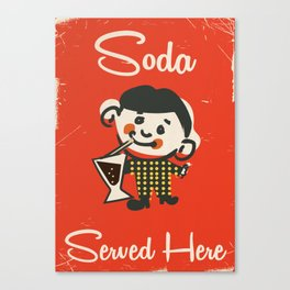 Vintage Soda drinks commercial Canvas Print
