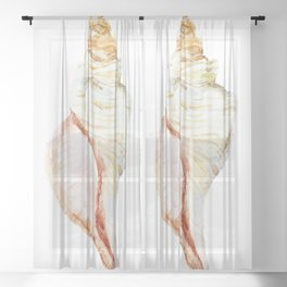 Large Shell Sheer Curtain