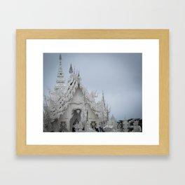 The White Temple - Thailand - 001 Framed Art Print